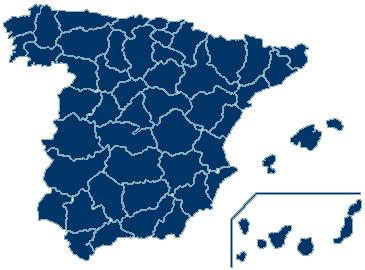 Gestorías: Mapa de españa